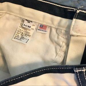 American Apparel Shorts - American Apparel Striped High Rise Denim Mom Short